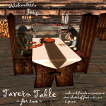 tavern table for two 4 wp
